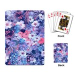 Spring Flowers Blue Playing Cards Single Design Back