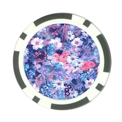 Spring Flowers Blue Poker Chip by ImpressiveMoments