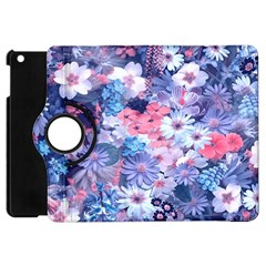 Spring Flowers Blue Apple Ipad Mini Flip 360 Case by ImpressiveMoments