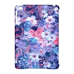 Spring Flowers Blue Apple Ipad Mini Hardshell Case (compatible With Smart Cover) by ImpressiveMoments