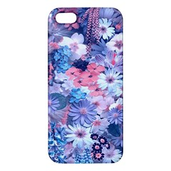 Spring Flowers Blue Iphone 5 Premium Hardshell Case