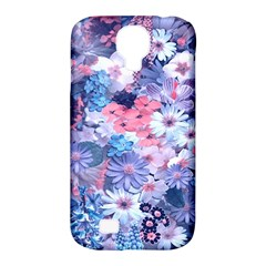 Spring Flowers Blue Samsung Galaxy S4 Classic Hardshell Case (pc+silicone) by ImpressiveMoments