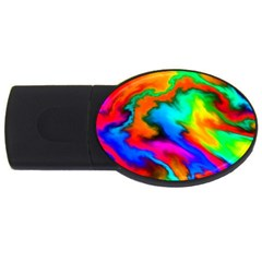 Crazy Effects  2gb Usb Flash Drive (oval) by ImpressiveMoments