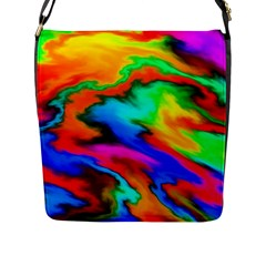 Crazy Effects  Flap Closure Messenger Bag (large) by ImpressiveMoments