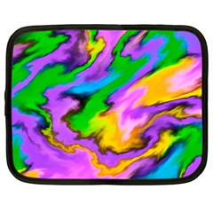 Crazy Effects  Netbook Sleeve (xl) by ImpressiveMoments