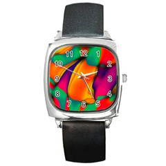 Crazy Effects  Square Leather Watch by ImpressiveMoments