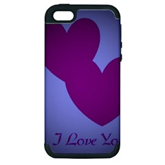 I Love You Apple Iphone 5 Hardshell Case (pc+silicone) by WonderfulDreamPicture