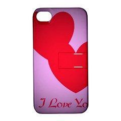 I Love You Apple Iphone 4/4s Hardshell Case With Stand by WonderfulDreamPicture