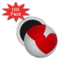 I Love You 1 75  Button Magnet (100 Pack)