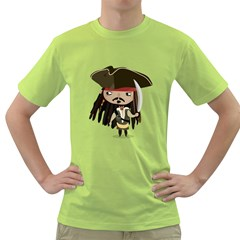Captain Sparrow Mens  T Shirt (green) by Contest1771913