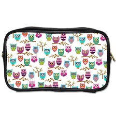 Happy Owls Travel Toiletry Bag (one Side)