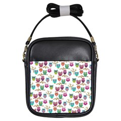 Happy Owls Girl s Sling Bag by Ancello