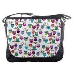 Happy Owls Messenger Bag by Ancello