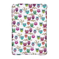 Happy Owls Apple Ipad Mini Hardshell Case (compatible With Smart Cover) by Ancello