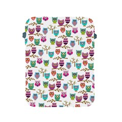 Happy Owls Apple Ipad Protective Sleeve by Ancello