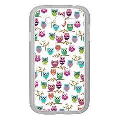 Happy Owls Samsung Galaxy Grand Duos I9082 Case (white) by Ancello