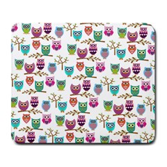 Happy Owls Large Mouse Pad (rectangle)