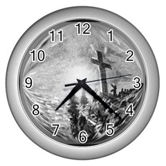 The Apple Of God s Eye Is Jesus   Ave Hurley   Artrave   Wall Clock (silver)