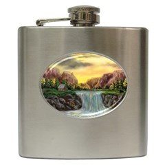Brentons Waterfall   Ave Hurley   Artrave   Hip Flask by ArtRave2