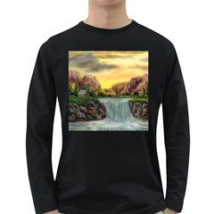 Brentons Waterfall   Ave Hurley   Artrave   Mens' Long Sleeve T Shirt (dark Colored) by ArtRave2