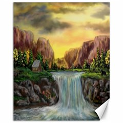 Brentons Waterfall   Ave Hurley   Artrave   Canvas 11  X 14  (unframed) by ArtRave2