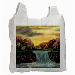 Brentons Waterfall   Ave Hurley   Artrave   Recycle Bag (one Side) by ArtRave2