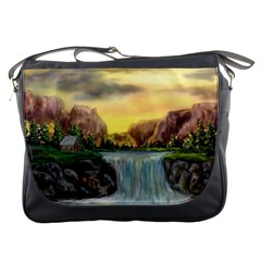 Brentons Waterfall   Ave Hurley   Artrave   Messenger Bag by ArtRave2
