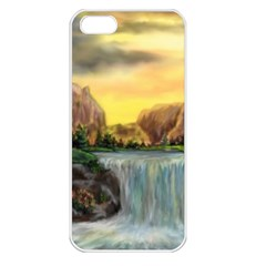 Brentons Waterfall   Ave Hurley   Artrave   Apple Iphone 5 Seamless Case (white) by ArtRave2