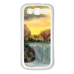 Brentons Waterfall   Ave Hurley   Artrave   Samsung Galaxy S3 Back Case (white) by ArtRave2