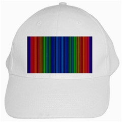 Strips White Baseball Cap by Siebenhuehner