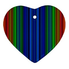Strips Heart Ornament by Siebenhuehner