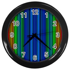 Strips Wall Clock (black) by Siebenhuehner