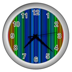 Strips Wall Clock (silver)