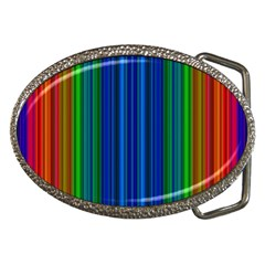 Strips Belt Buckle (oval) by Siebenhuehner