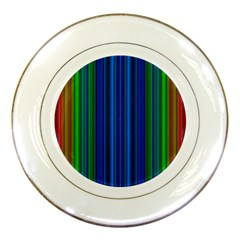 Strips Porcelain Display Plate by Siebenhuehner