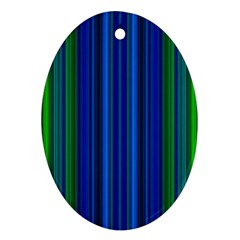 Strips Oval Ornament (two Sides) by Siebenhuehner