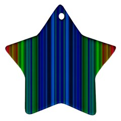 Strips Star Ornament (two Sides) by Siebenhuehner