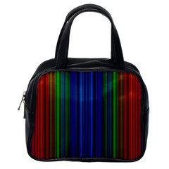 Strips Classic Handbag (one Side) by Siebenhuehner