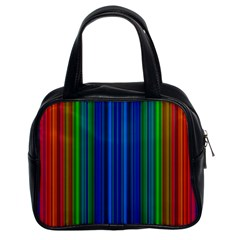 Strips Classic Handbag (two Sides) by Siebenhuehner
