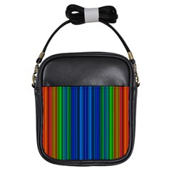 Strips Girl s Sling Bag by Siebenhuehner