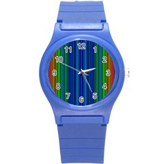Strips Plastic Sport Watch (small) by Siebenhuehner