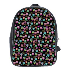 Happy Owls School Bag (large) by Ancello