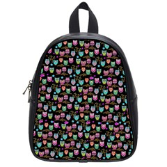 Happy Owls School Bag (small) by Ancello