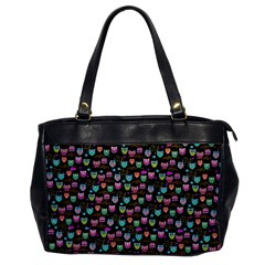 Happy Owls Oversize Office Handbag (one Side) by Ancello