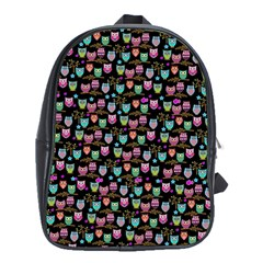 Happy Owls School Bag (xl) by Ancello