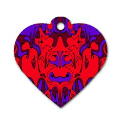 Abstract Dog Tag Heart (one Sided)  by Siebenhuehner