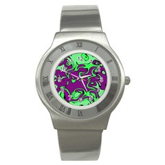Abstract Stainless Steel Watch (slim) by Siebenhuehner