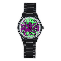 Abstract Sport Metal Watch (black) by Siebenhuehner