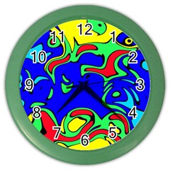 Abstract Wall Clock (color) by Siebenhuehner