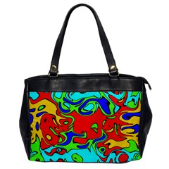 Abstract Oversize Office Handbag (one Side) by Siebenhuehner